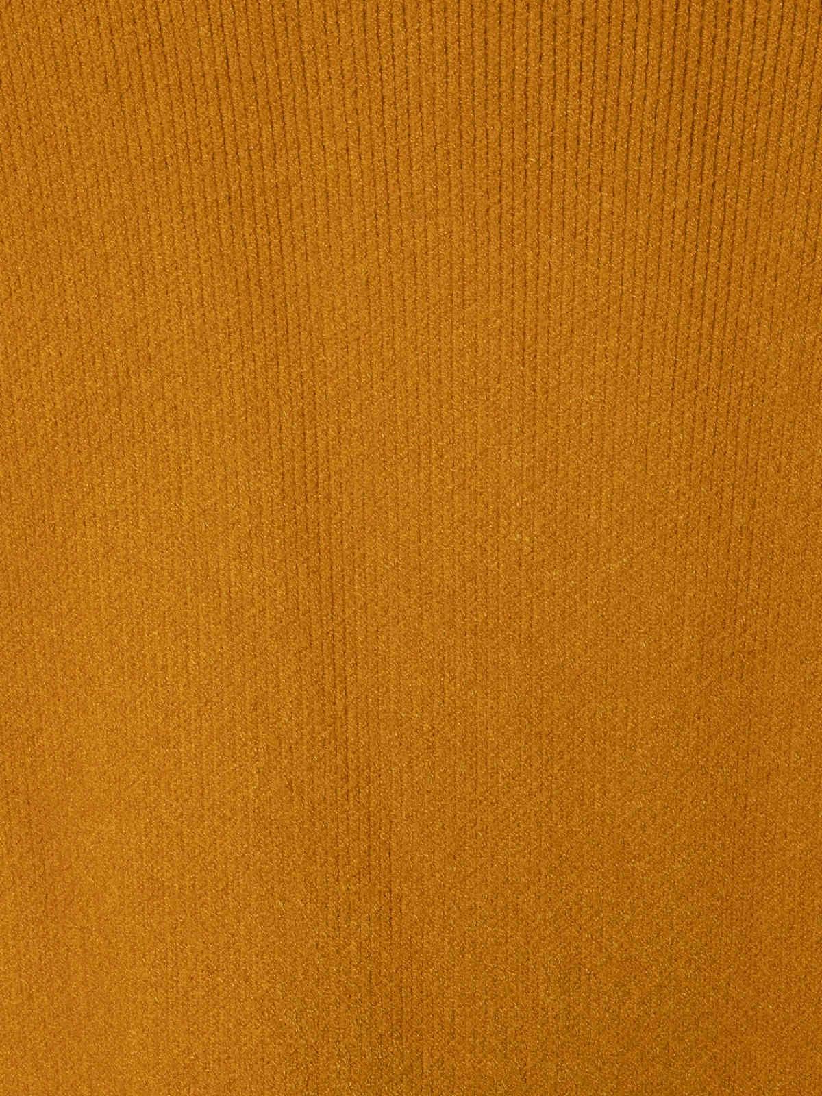 Jersey vestido de punto suave Mostaza