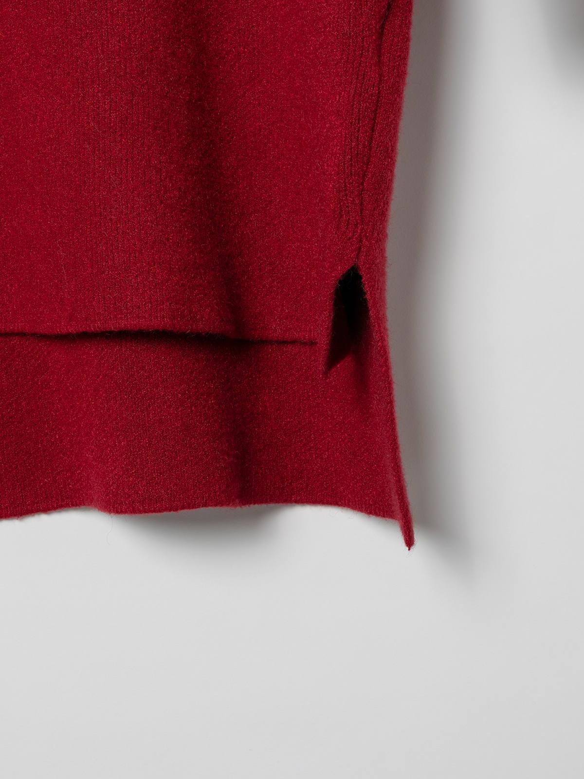 Jersey vestido mujer de punto suave Granate