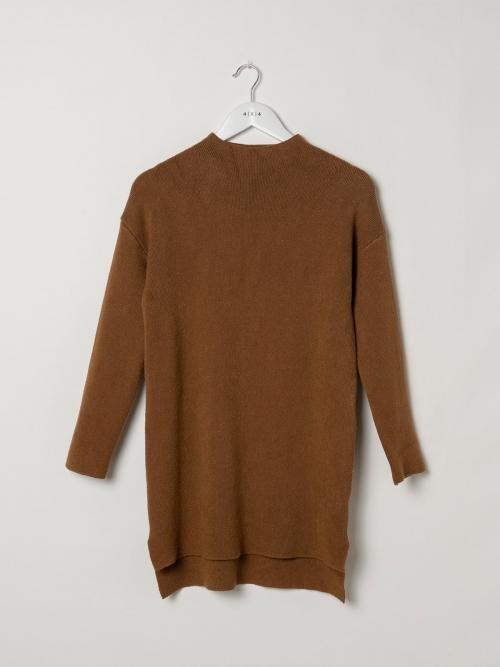 Jersey vestido mujer de punto suave Camel