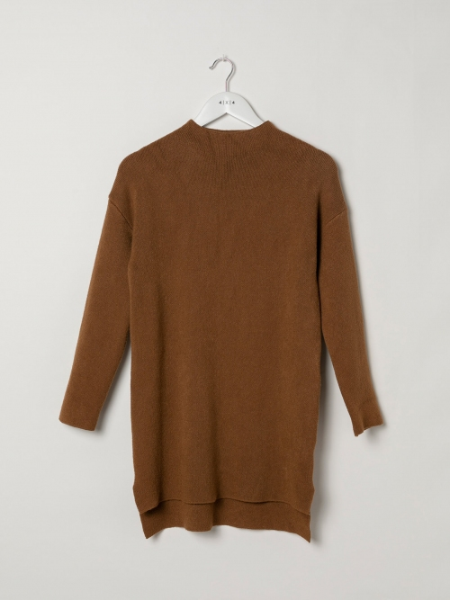 Woman Soft knit dress sweater Camel