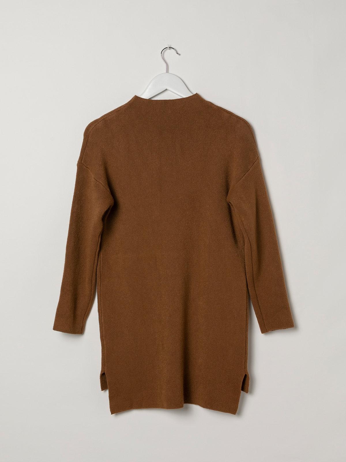 Woman Soft knit dress sweater Camel