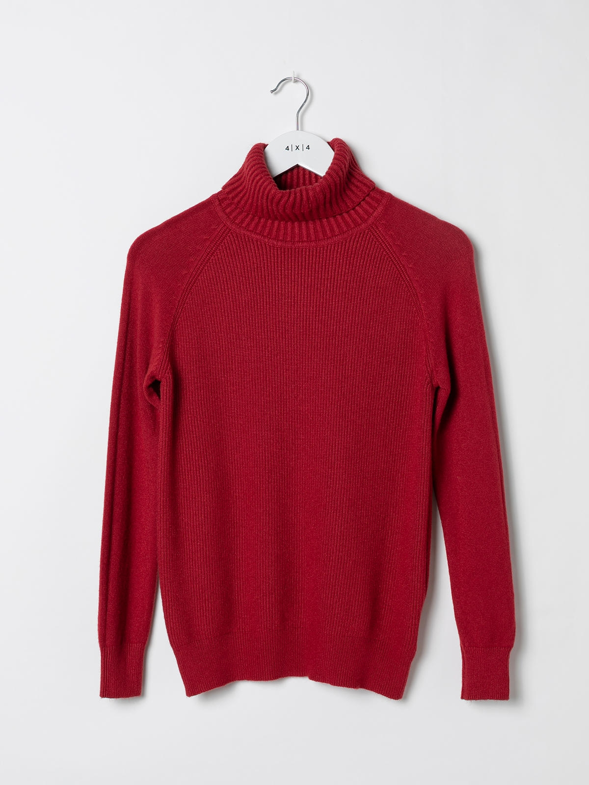 Woman Ribbed turtleneck sweater Granate