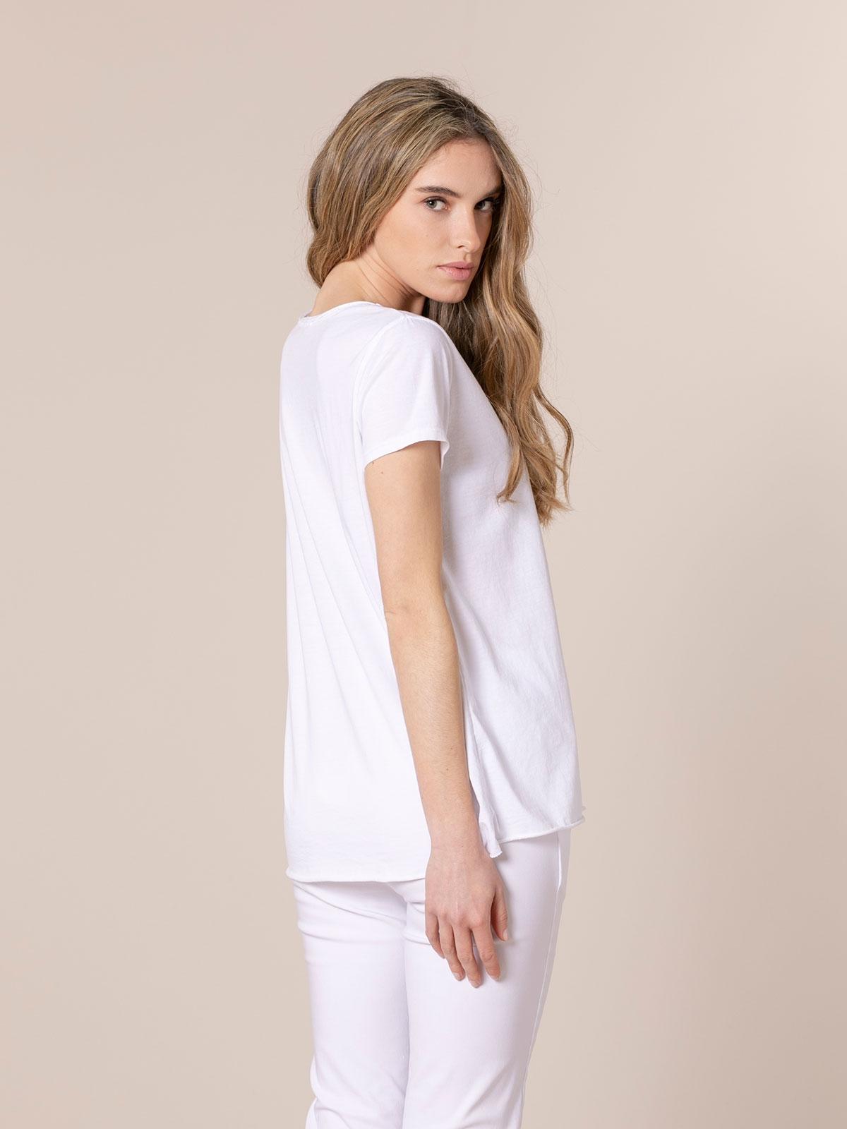 Woman Cotton message t-shirt White