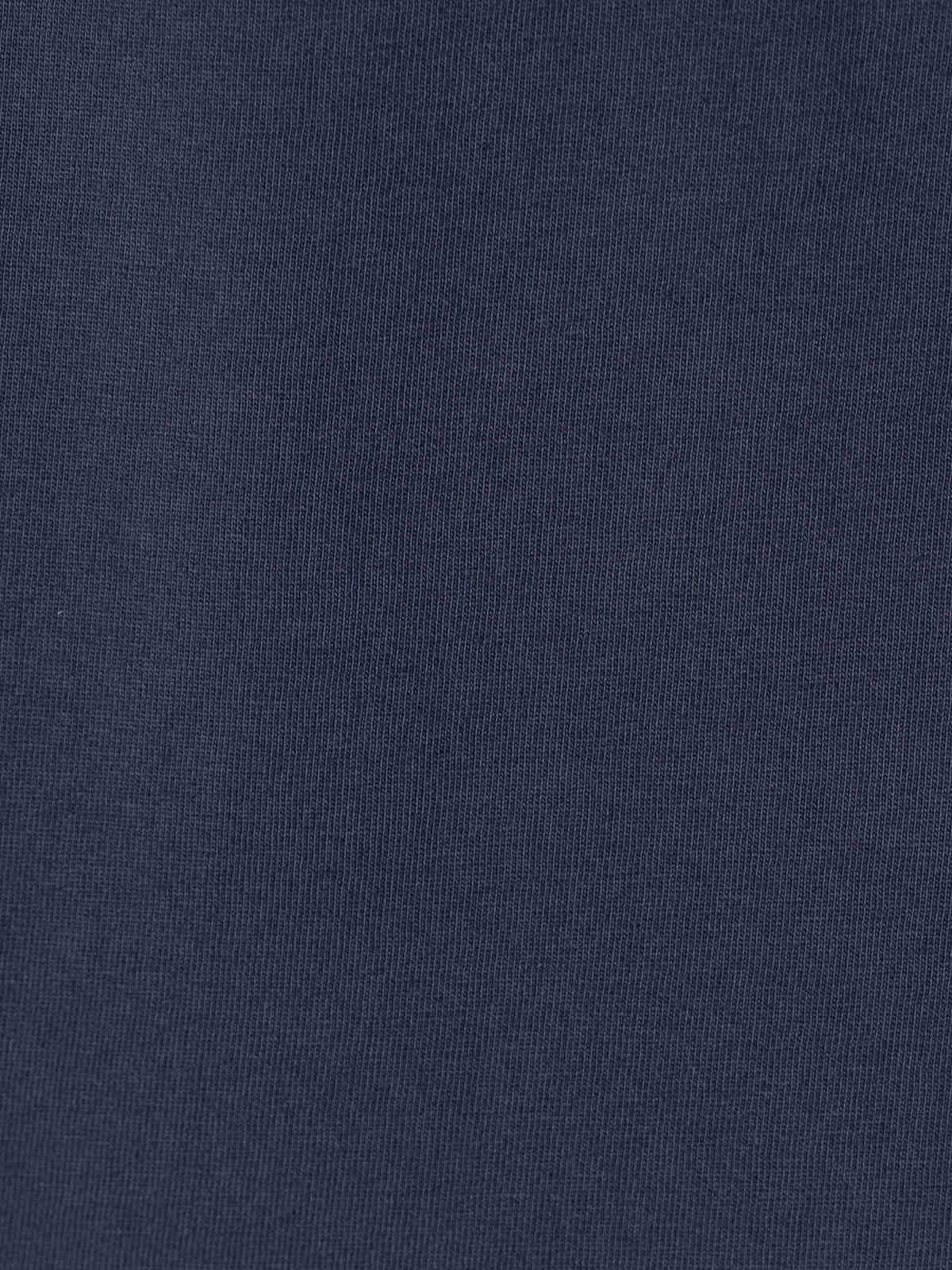 Woman Plain cotton T-shirt Blue Navy