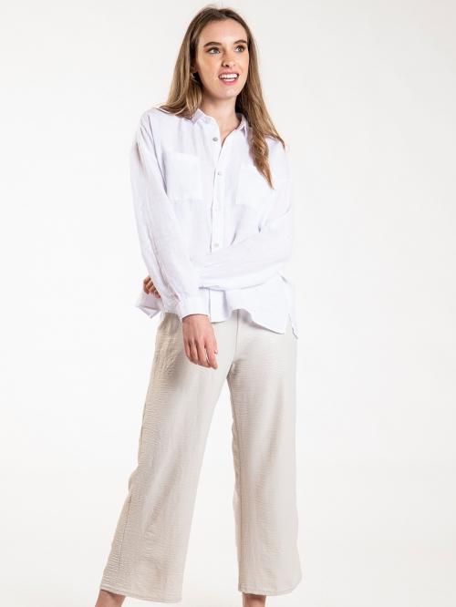 Woman Woman Kim linen shirt White