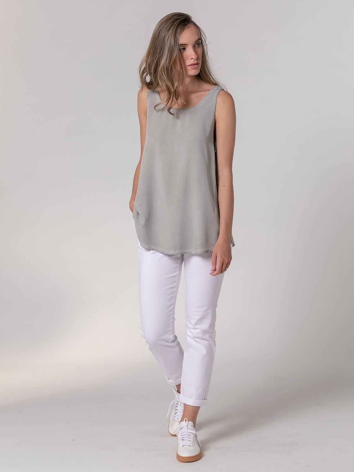 Woman Woman Basic fluid ecowash top Grey