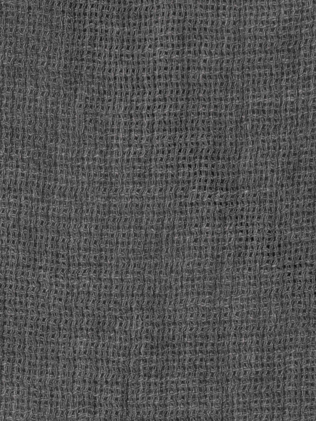 Woman Cotton polo shirt and linen detail Grey
