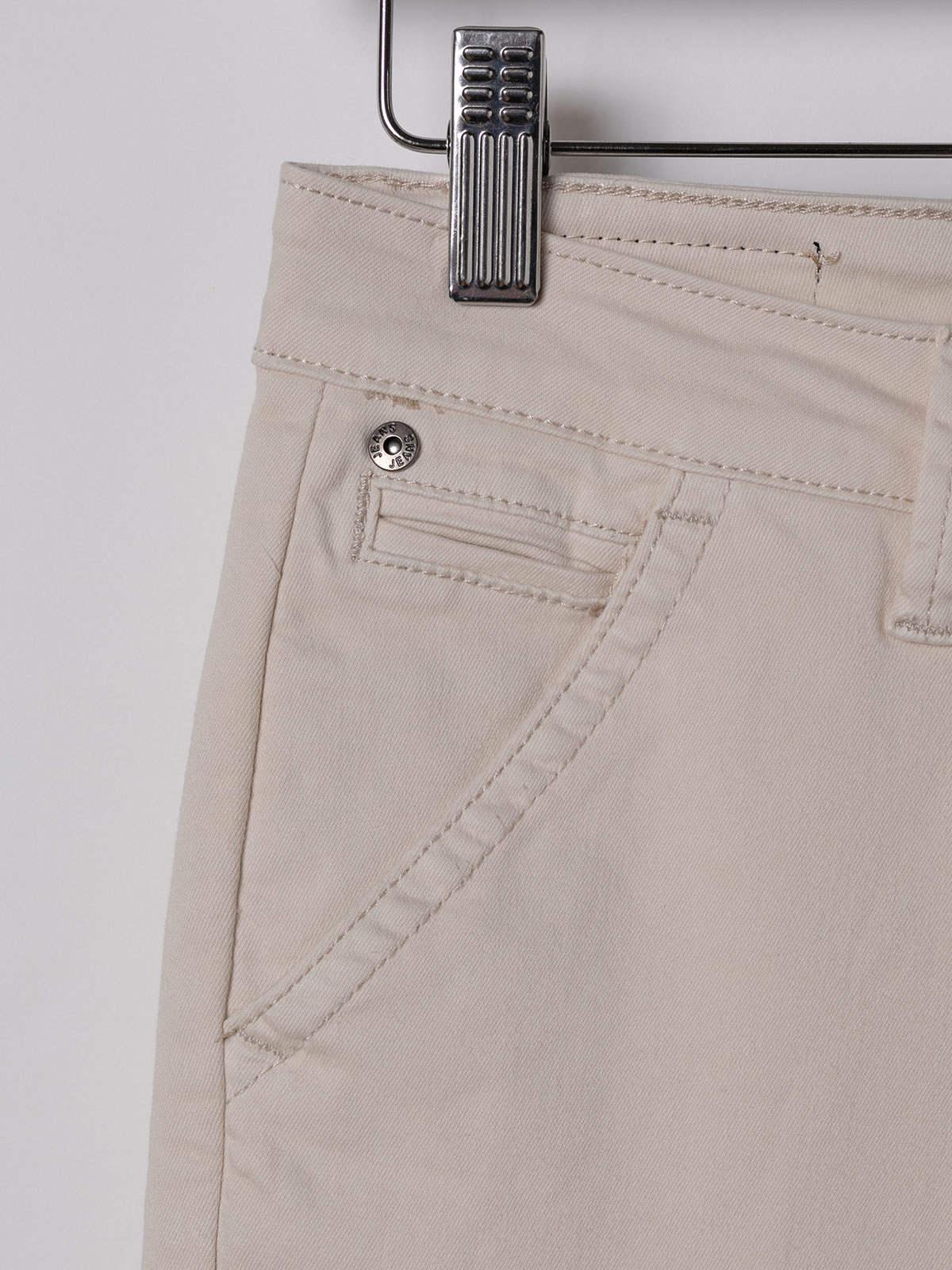 Woman Elastic cotton chino pants Beige