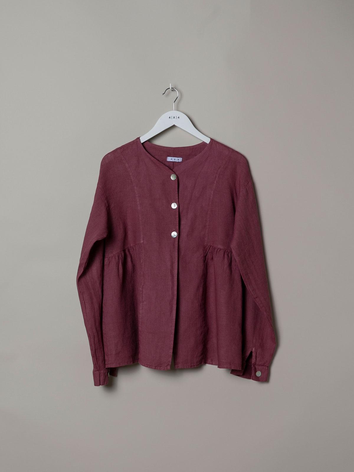 Woman Buttoned linen jacket Mallow