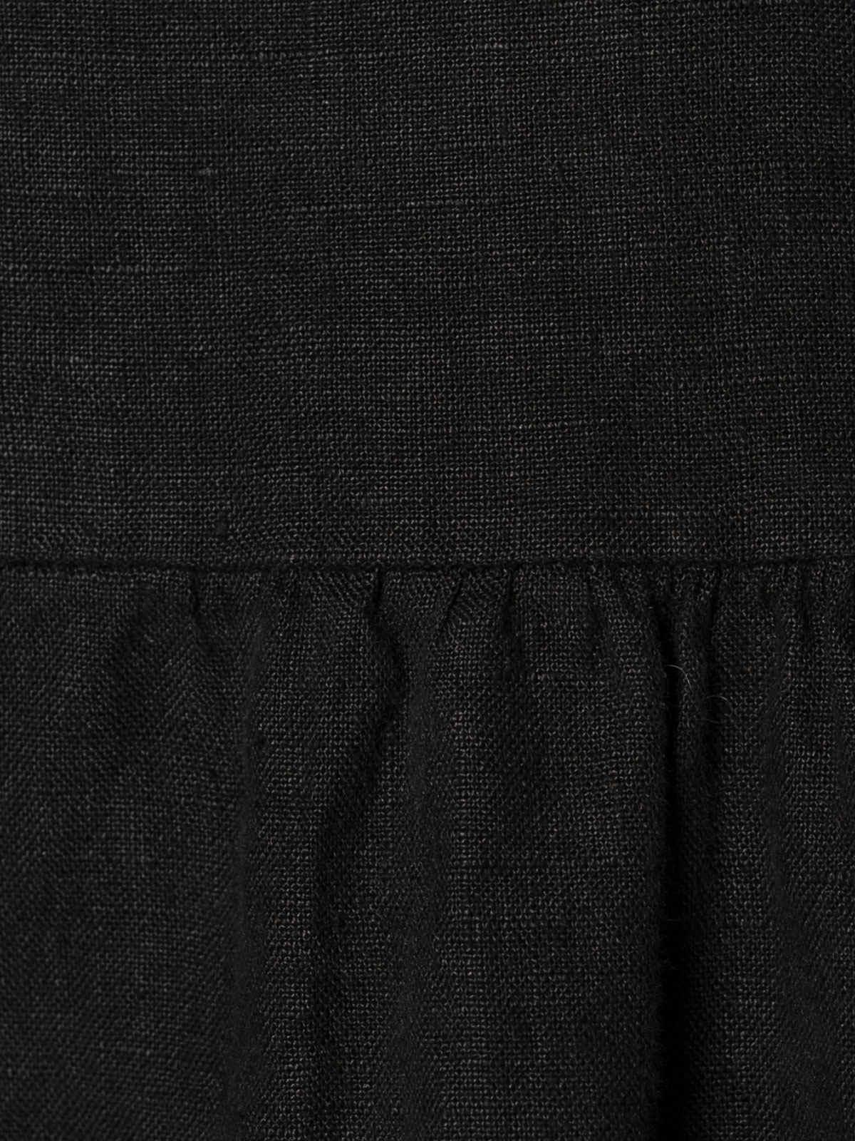 Woman Buttoned linen jacket Black