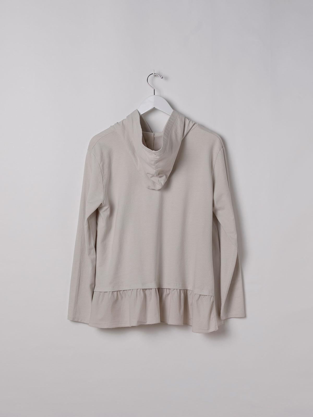 Woman pullover hoodie Beige