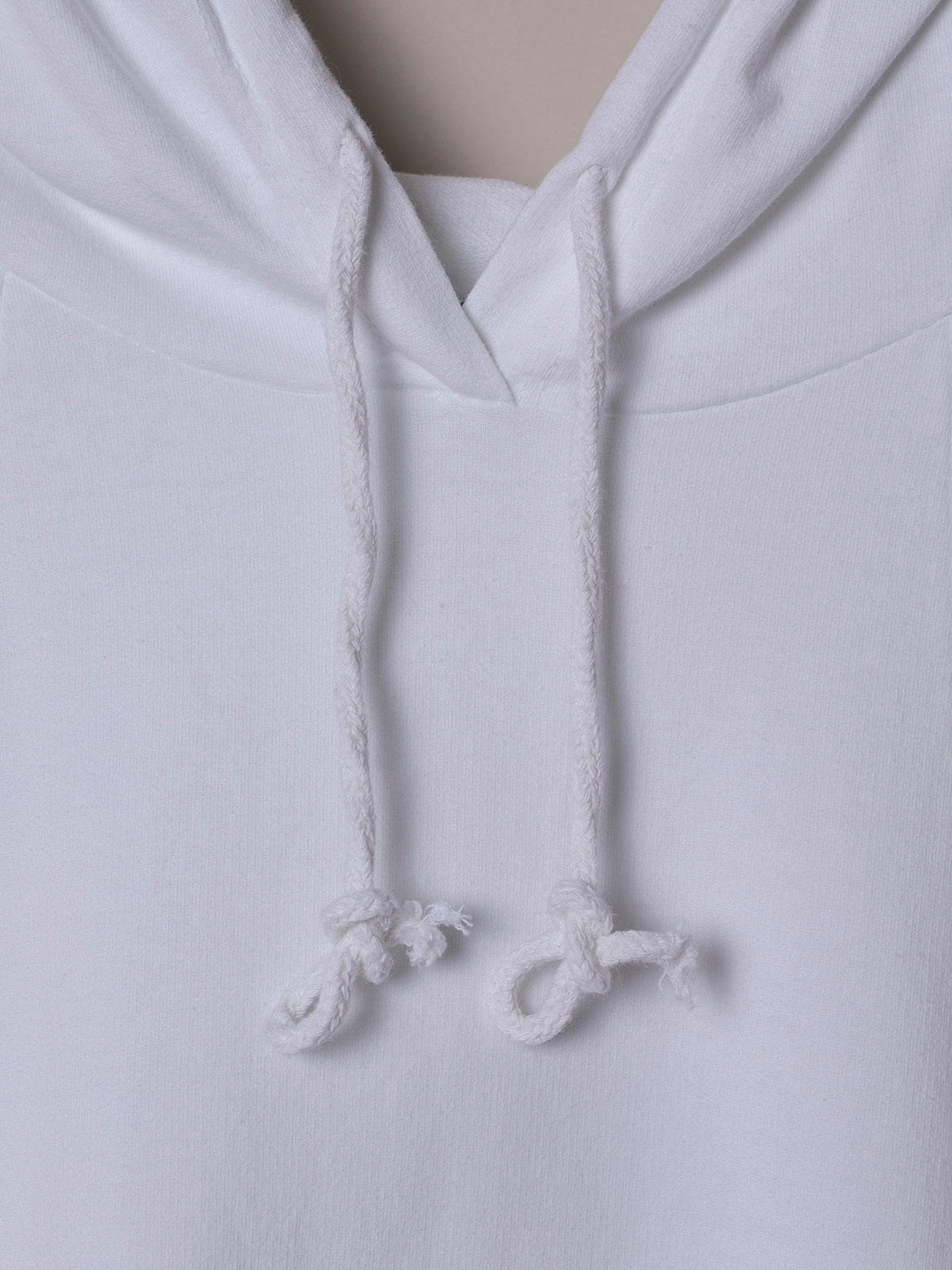 Woman Sweatshirt with pockets and hem detail White