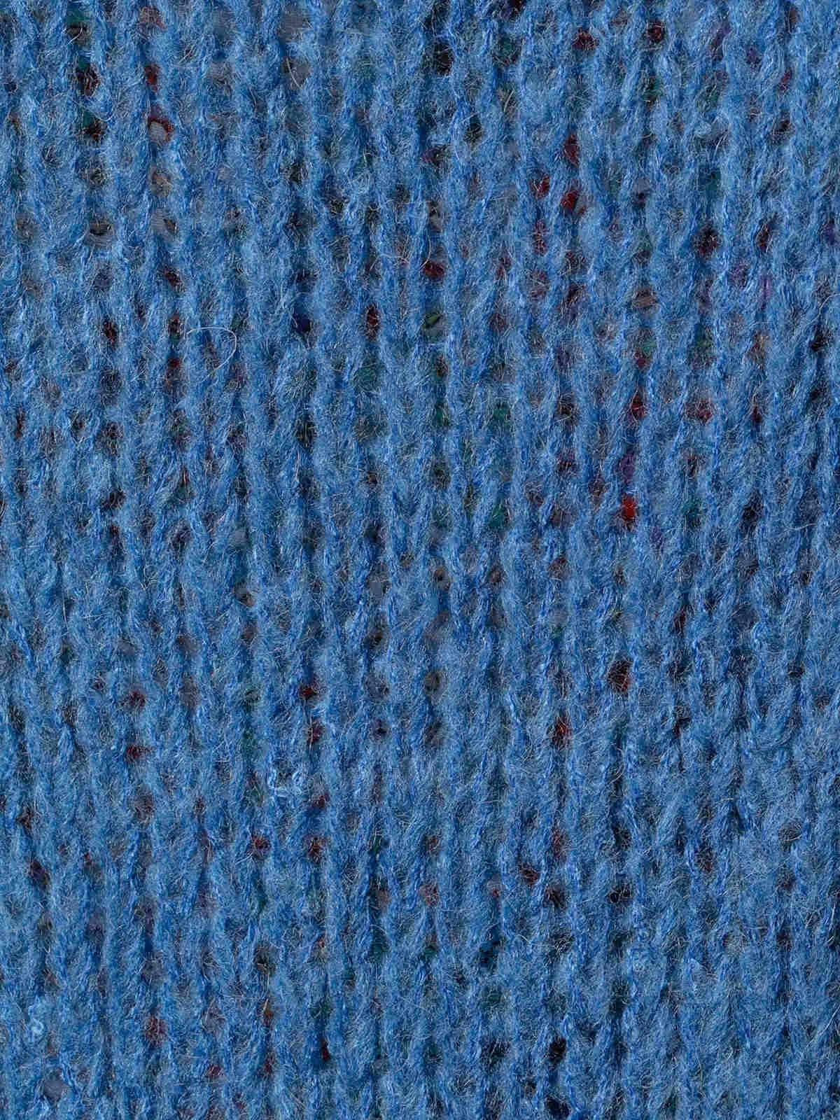 Chaqueta mujer de punto bolsillos cenefa Azul Jean