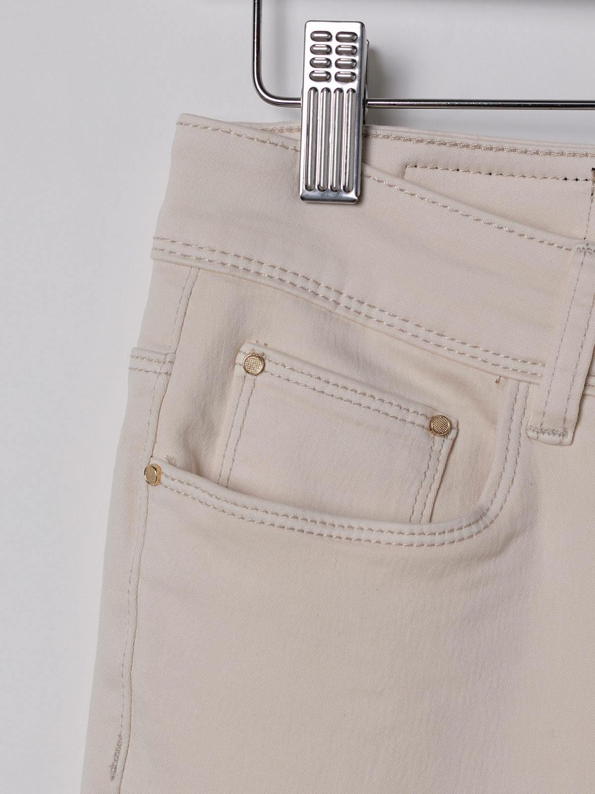 Woman Elastic 5 pocket pants Beige