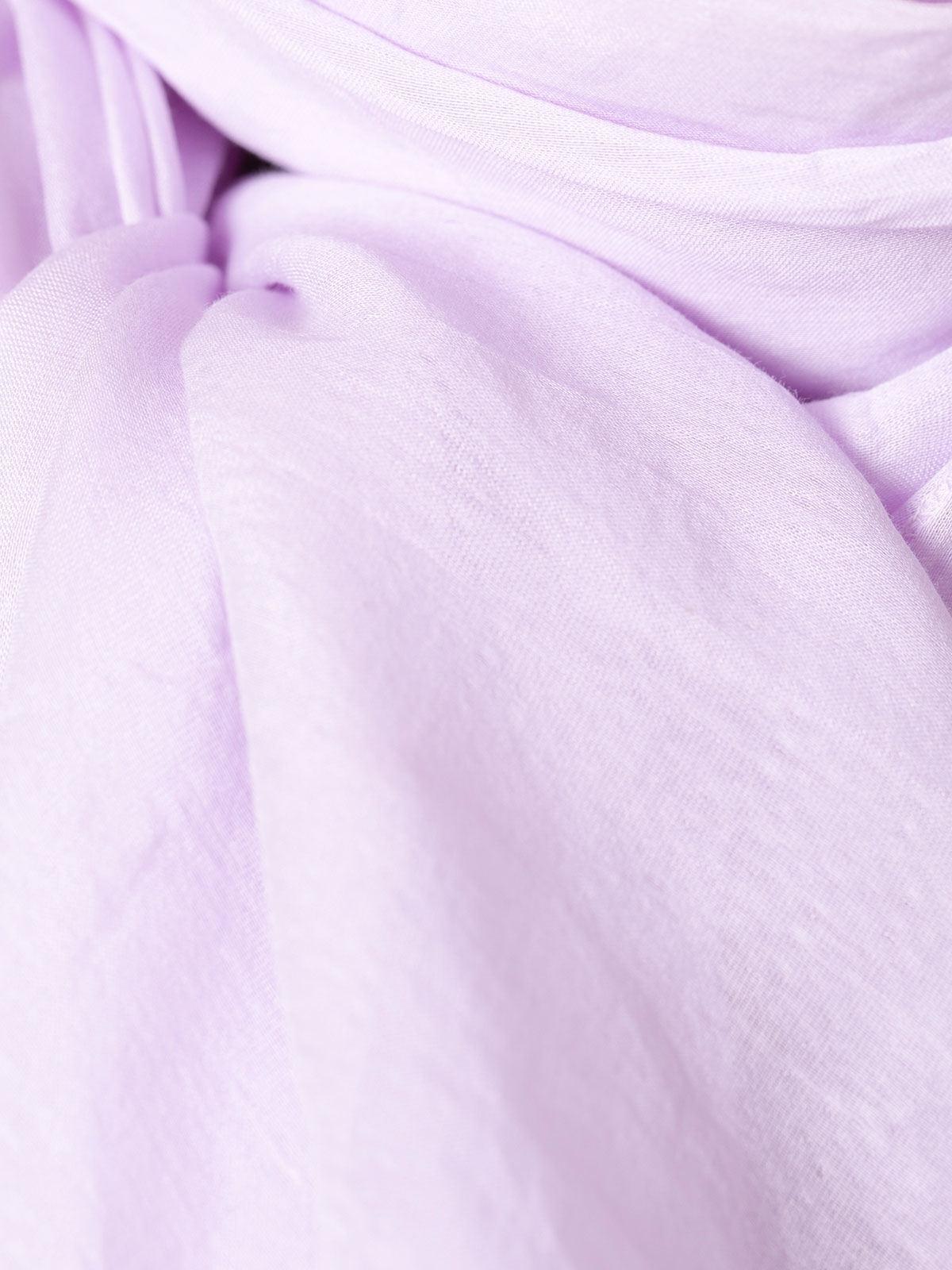 Fular mujer algodón liso Lila