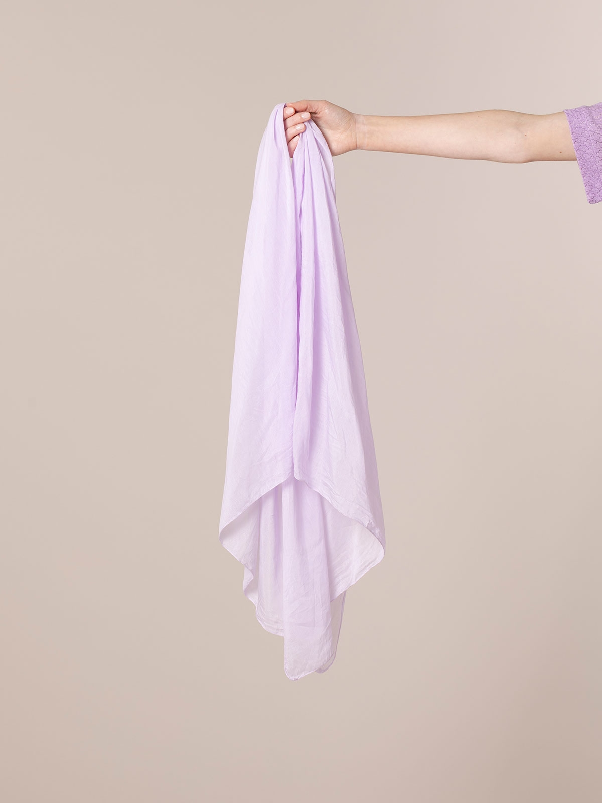 Woman Plain cotton scarf Lila