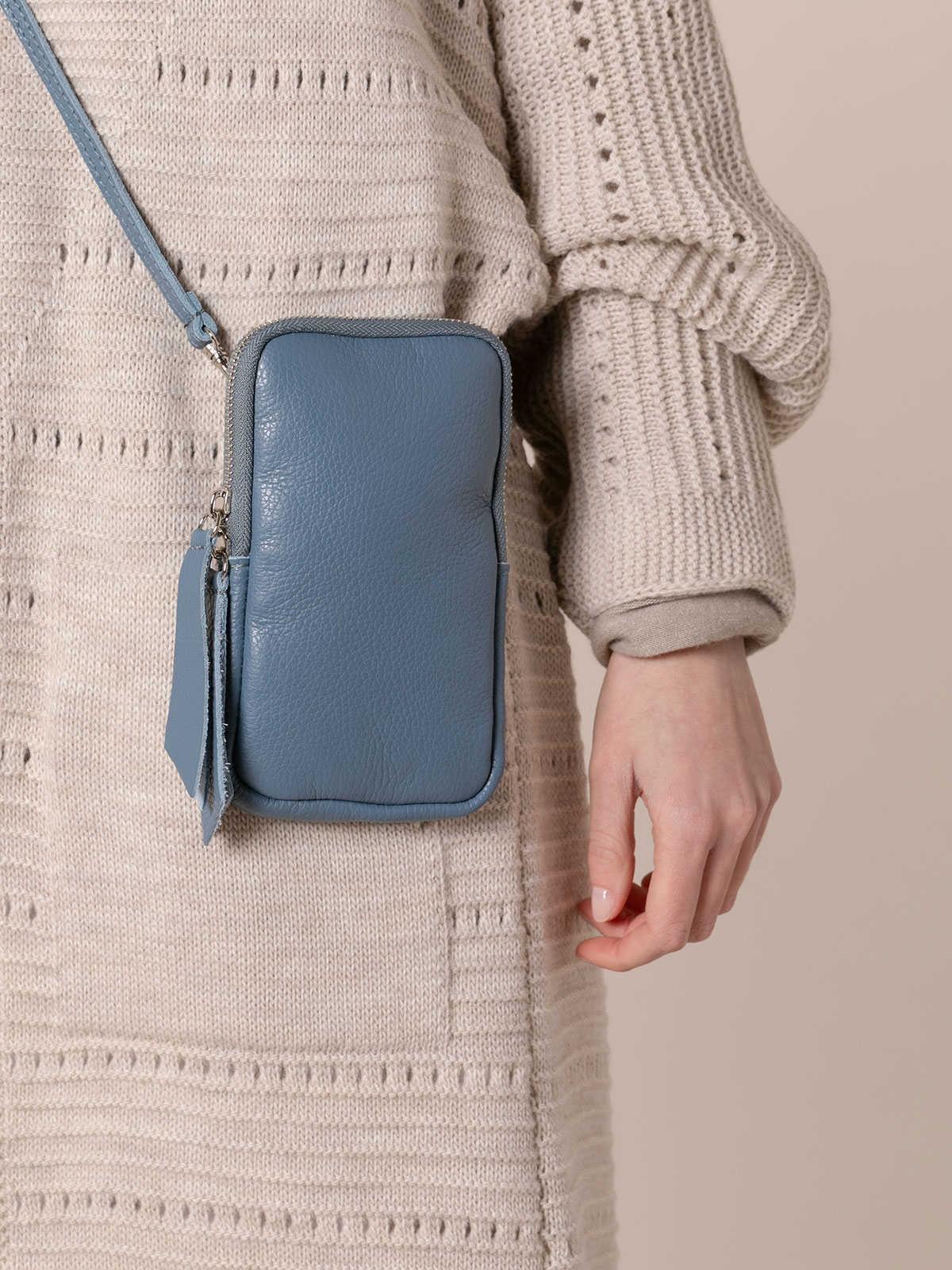 Woman Walk leather bag Blue