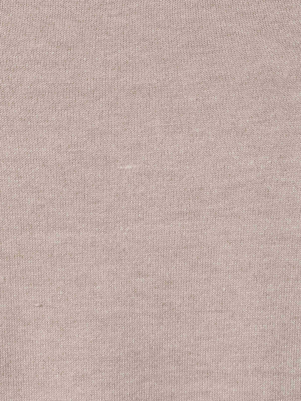 Camiseta mujer punto costuras Beige