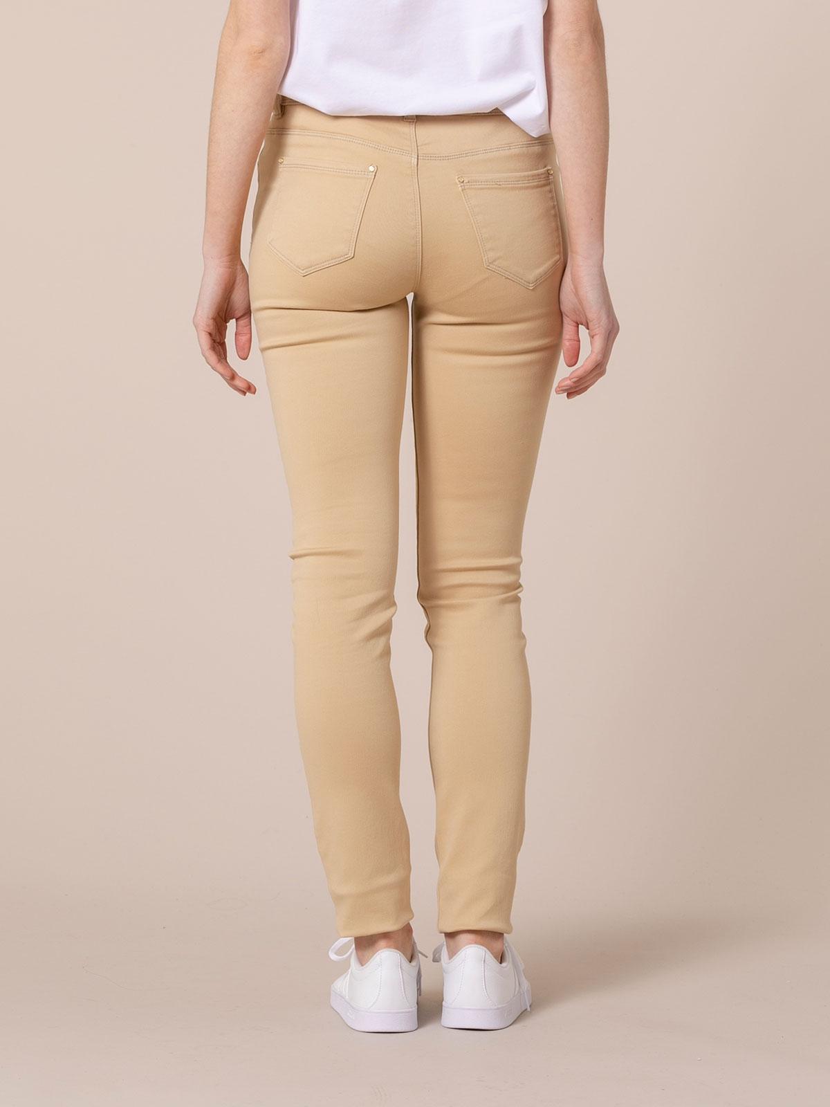 Woman Elastic 5 pocket pants Camel