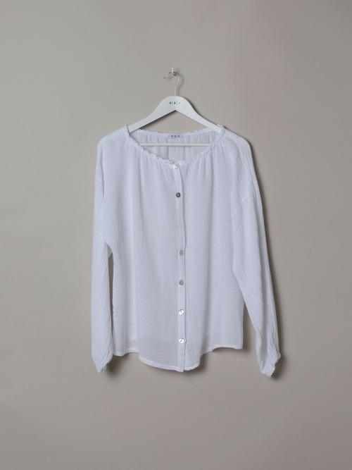 Woman Ruffled ruffle blouse White