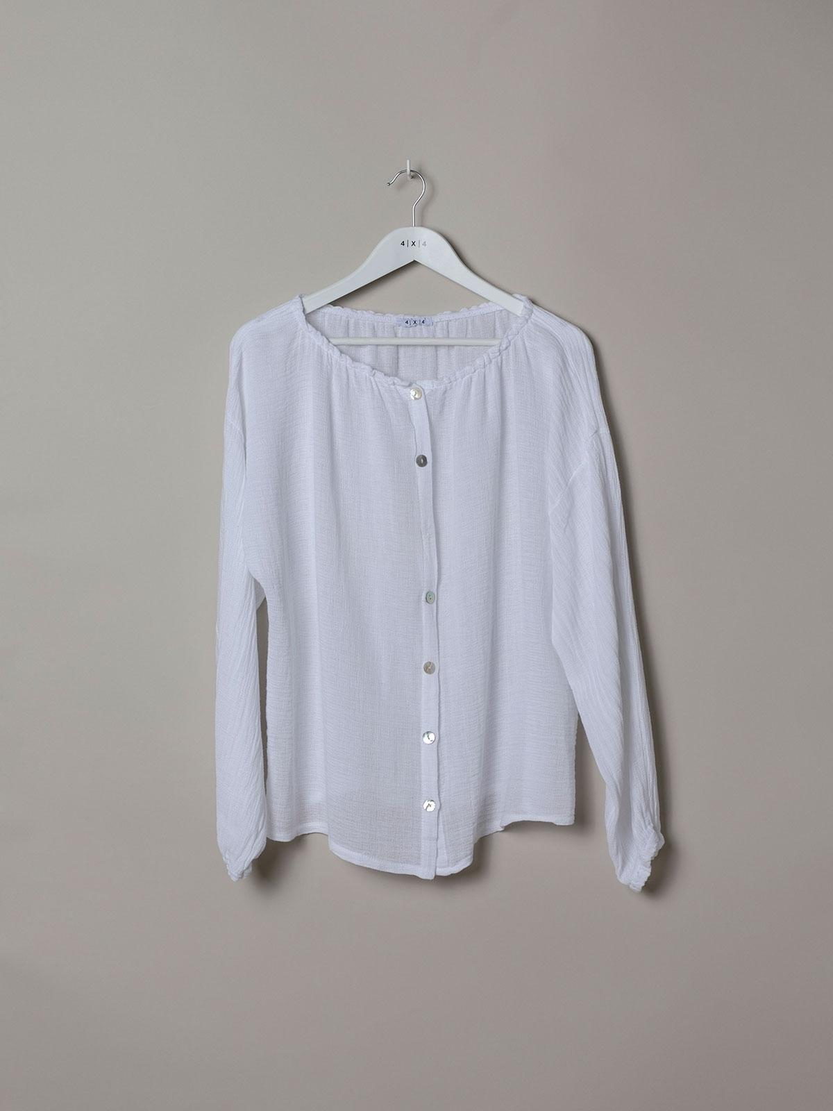 Woman Woman Ruffled ruffle blouse White