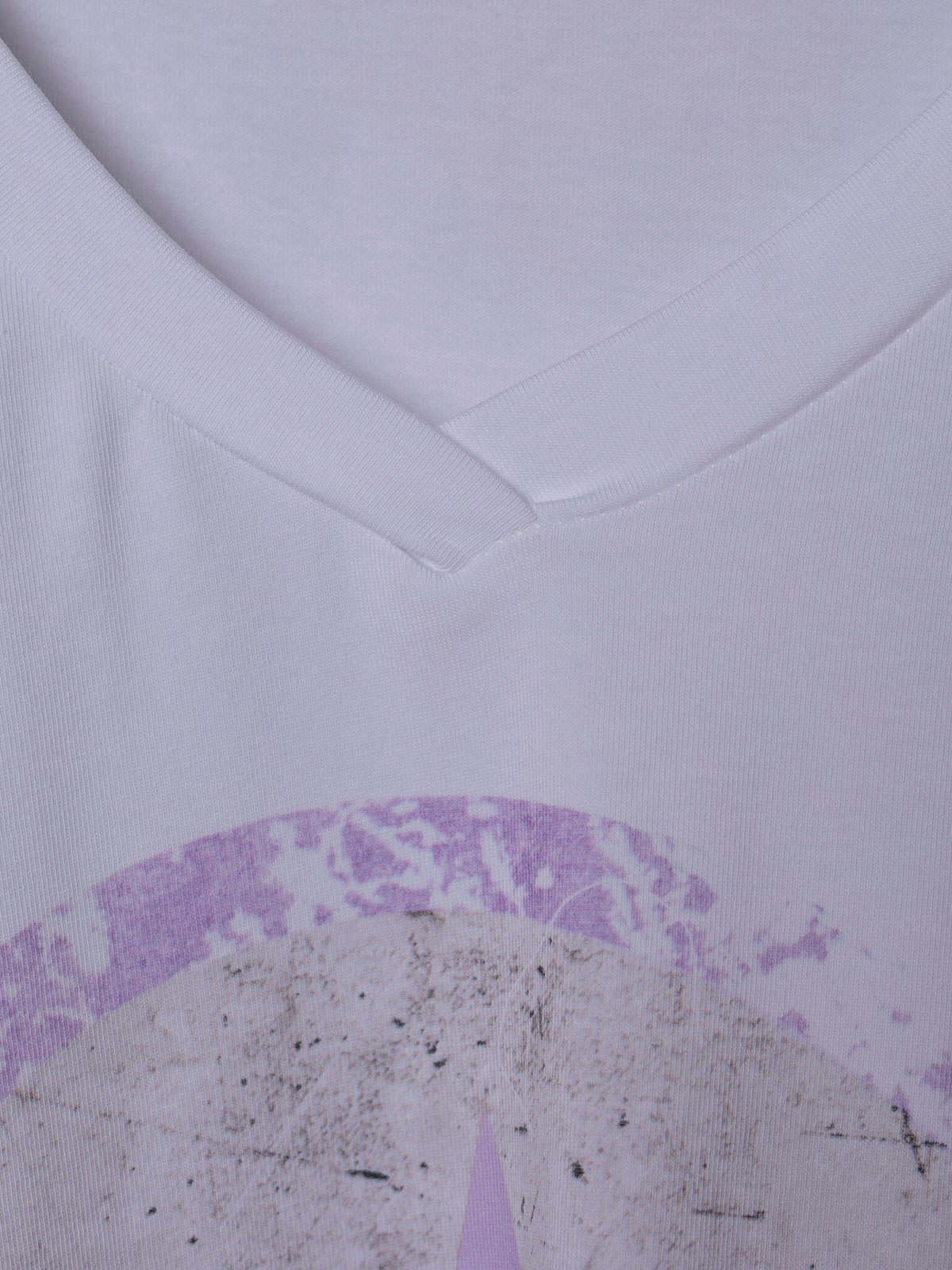 Woman Oversized organic cotton star T-shirt Lila