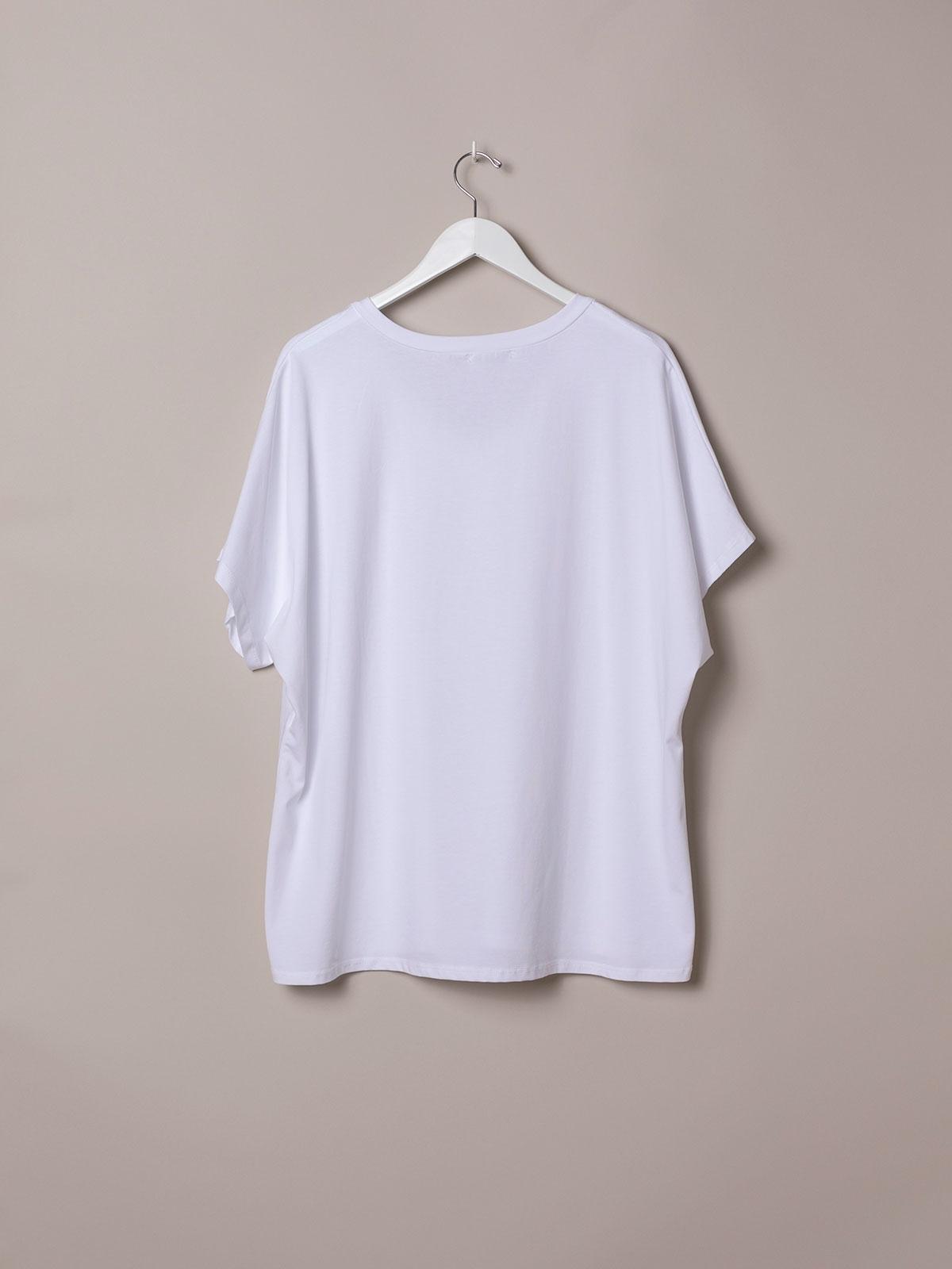 Camiseta mujer oversize estrella algodón orgánico Azul