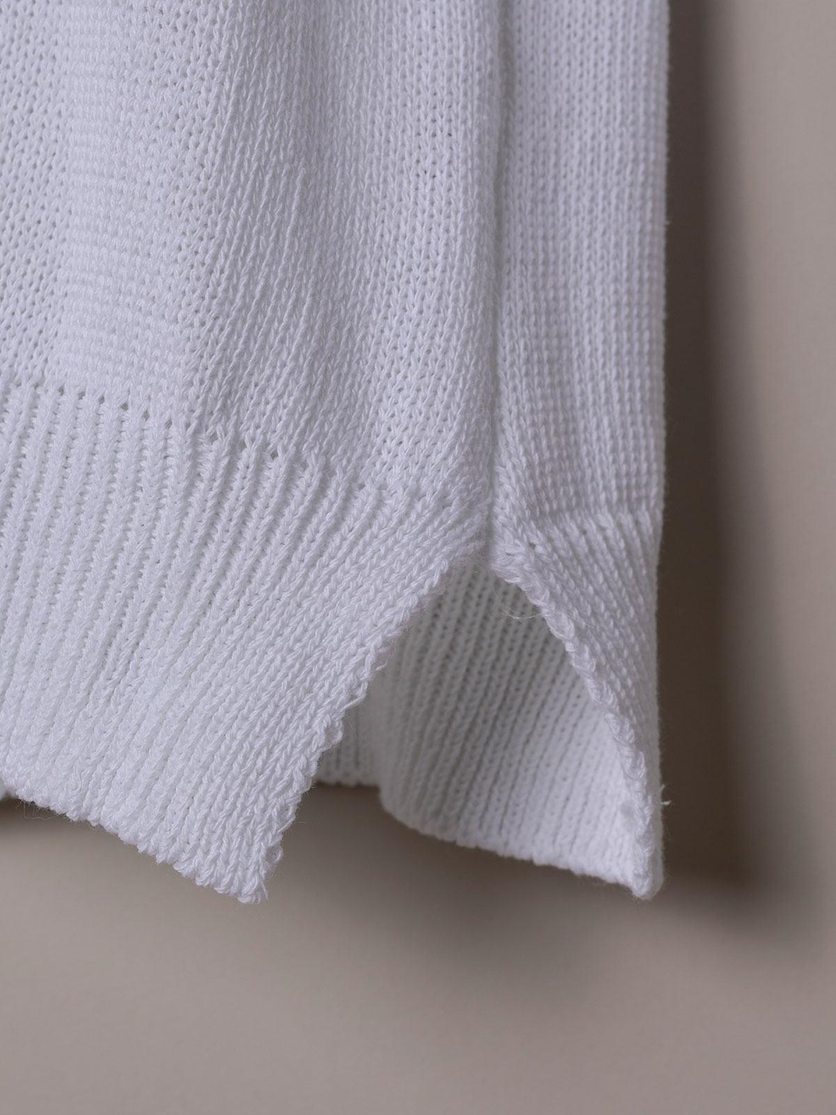 Jersey mujer punto de algodón Blanco
