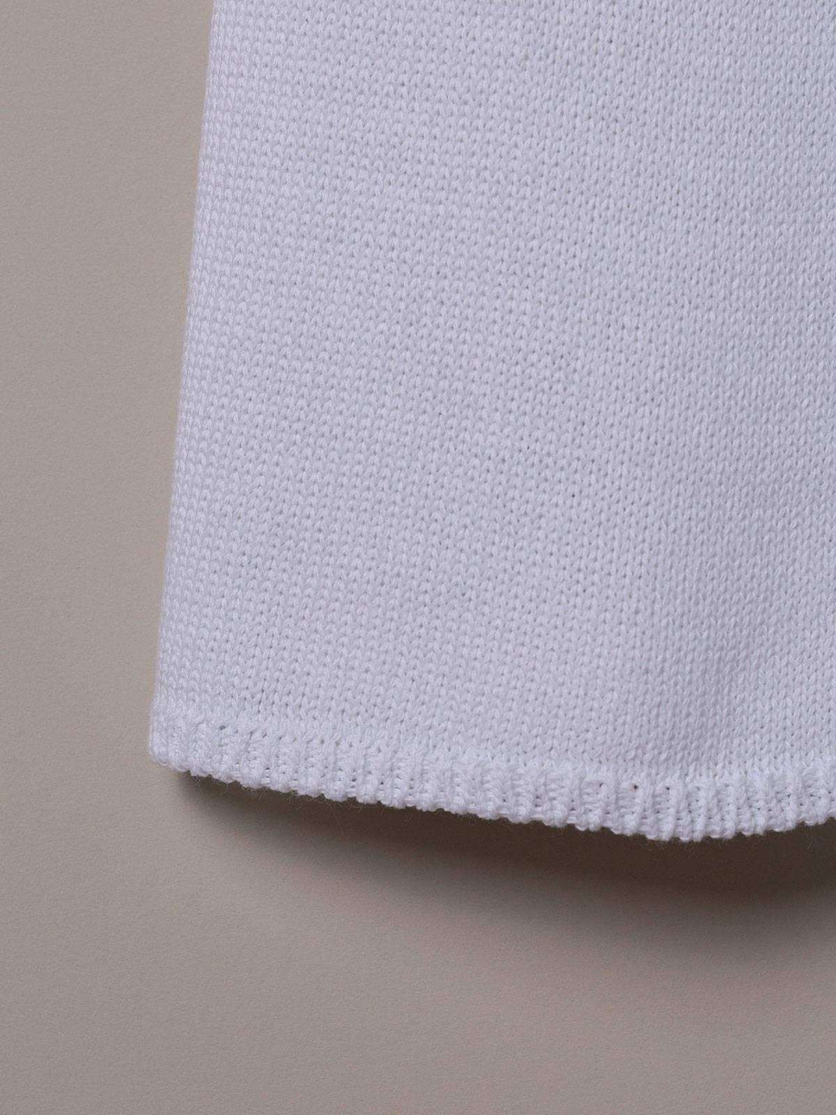 Pantalón mujer de punto algodón Blanco
