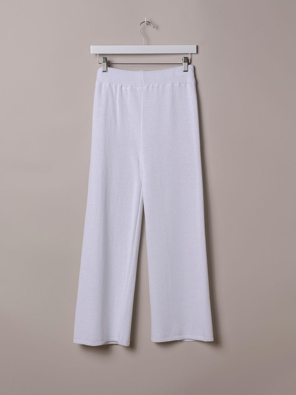 Woman Cotton jersey trousers White