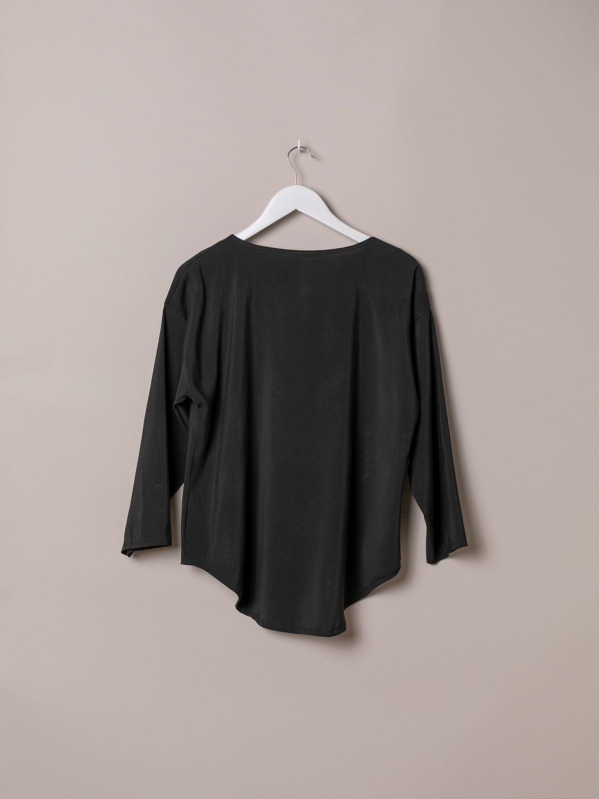Woman Basic flowy blouse Black
