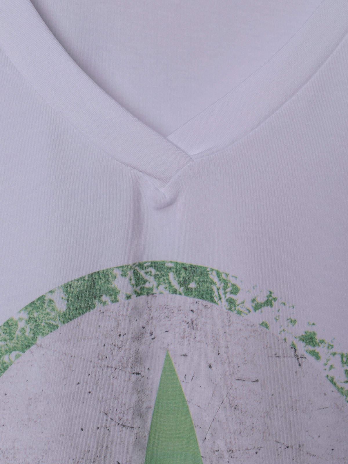 Camiseta mujer oversize estrella algodón orgánico Verde