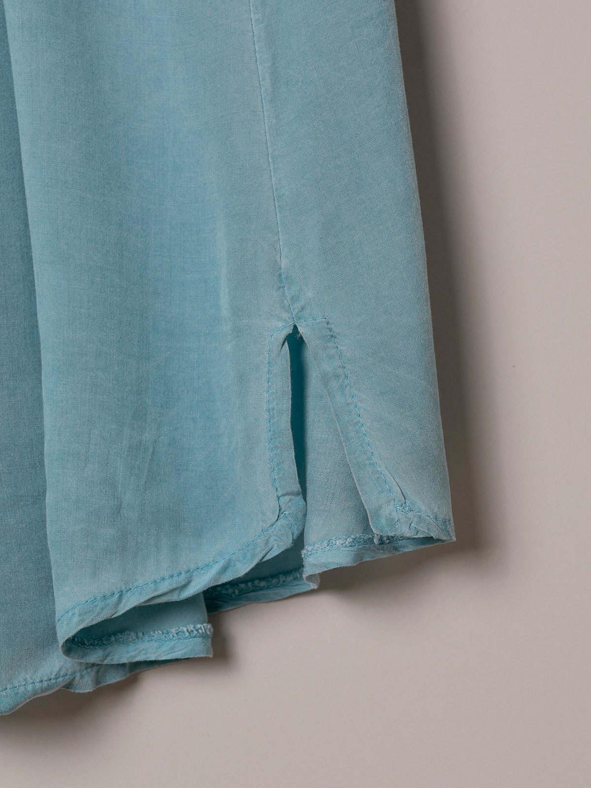 Woman Basic fluid ecowash top Blue