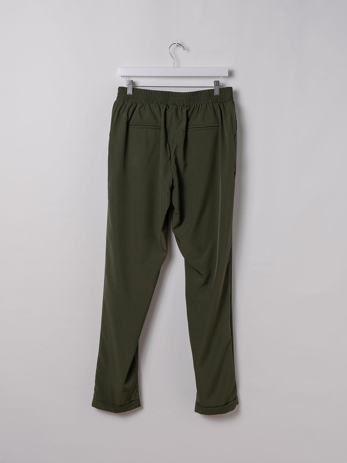 Pantalón mujer confort liso Caqui