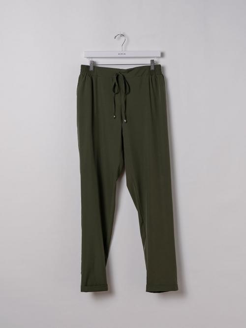 Woman Plain comfort trousers Khaki
