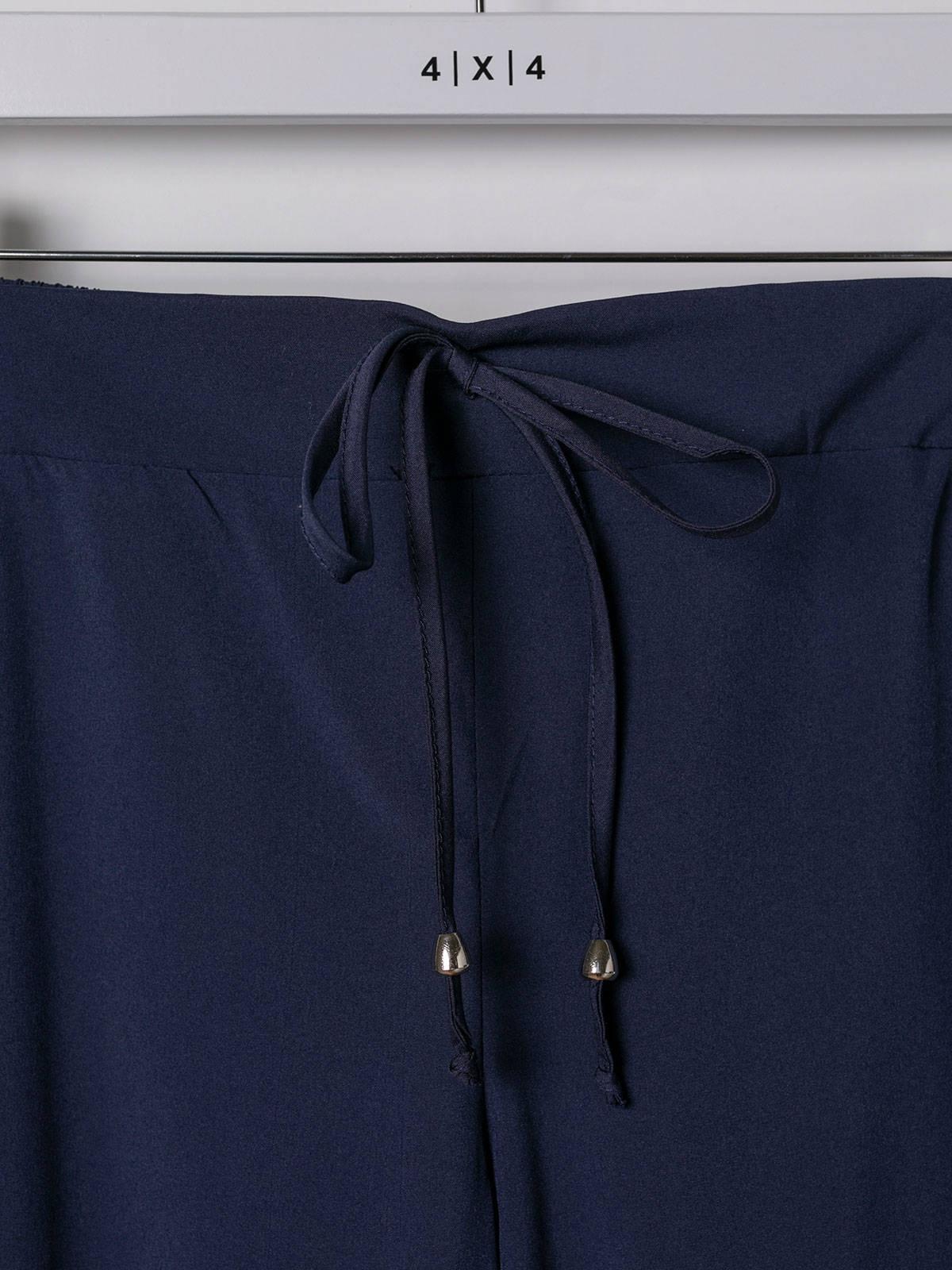 Pantalón mujer confort liso Azul Marino