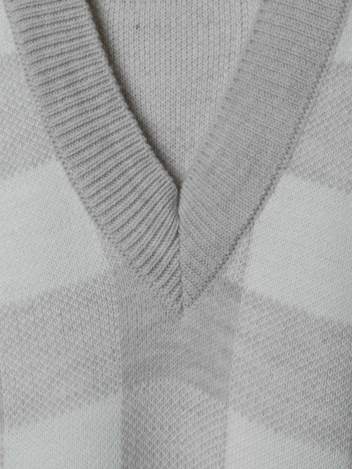 Woman Oversize checked waistcoat Beige