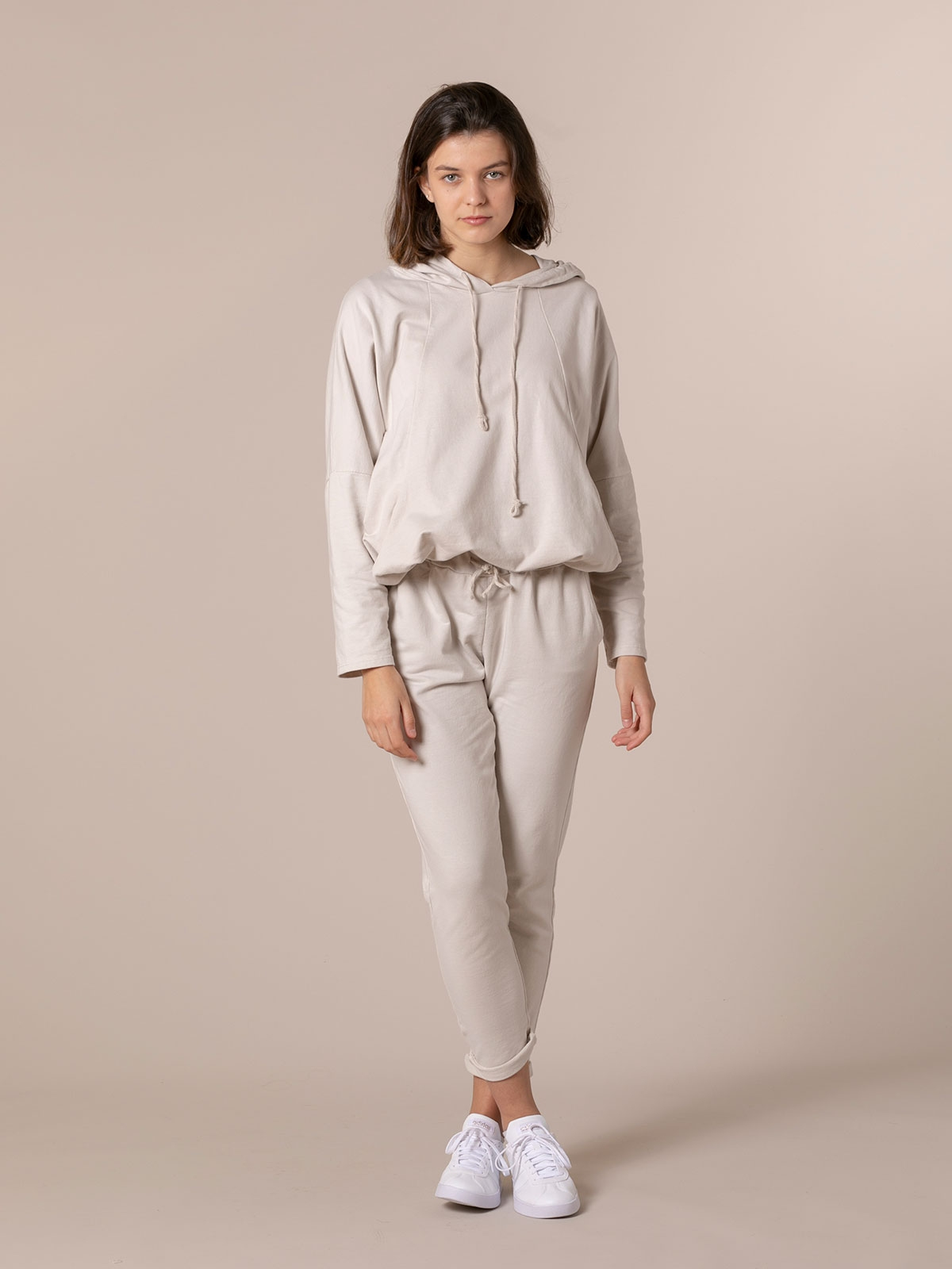 Woman Plush sport trousers Beige