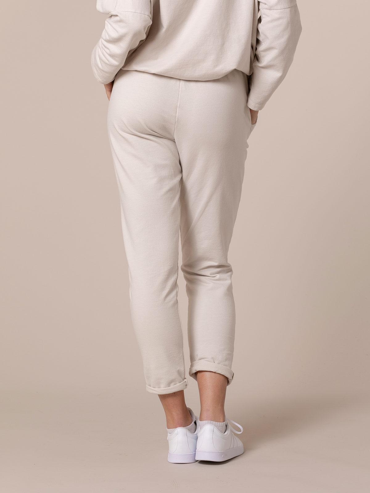 Pantalón mujer sport felpa Beige