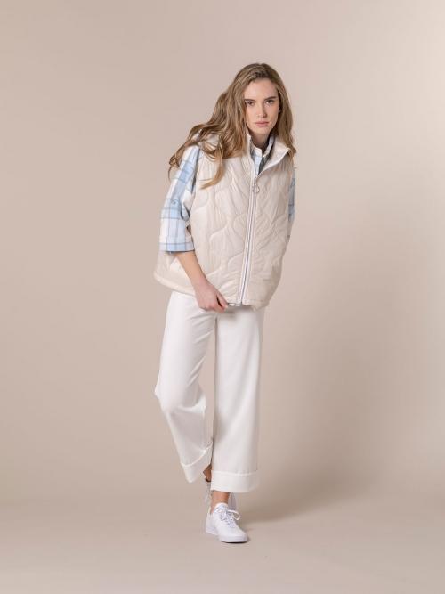 Woman Short padded vest Beige