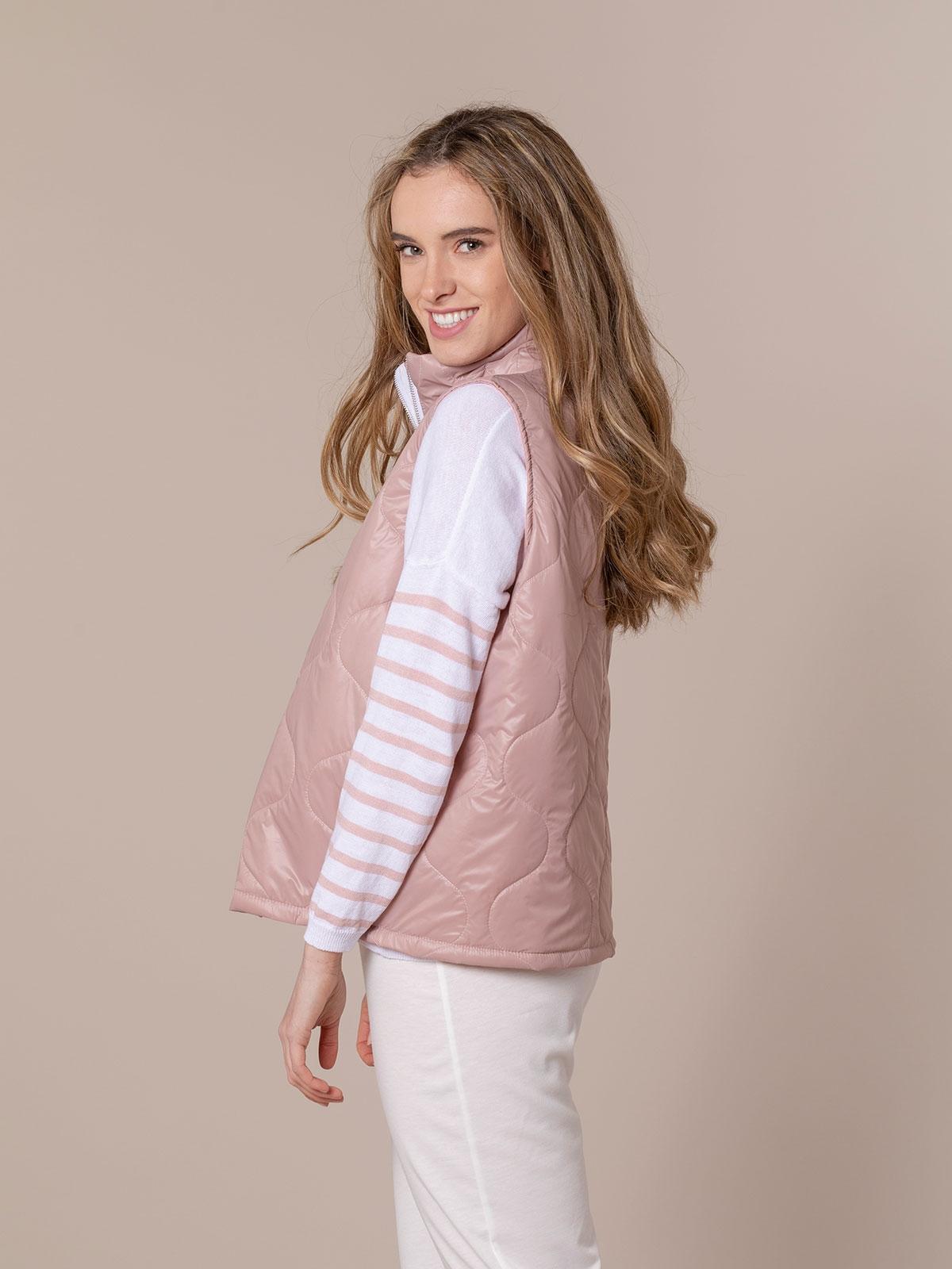 Woman Short padded vest Pink