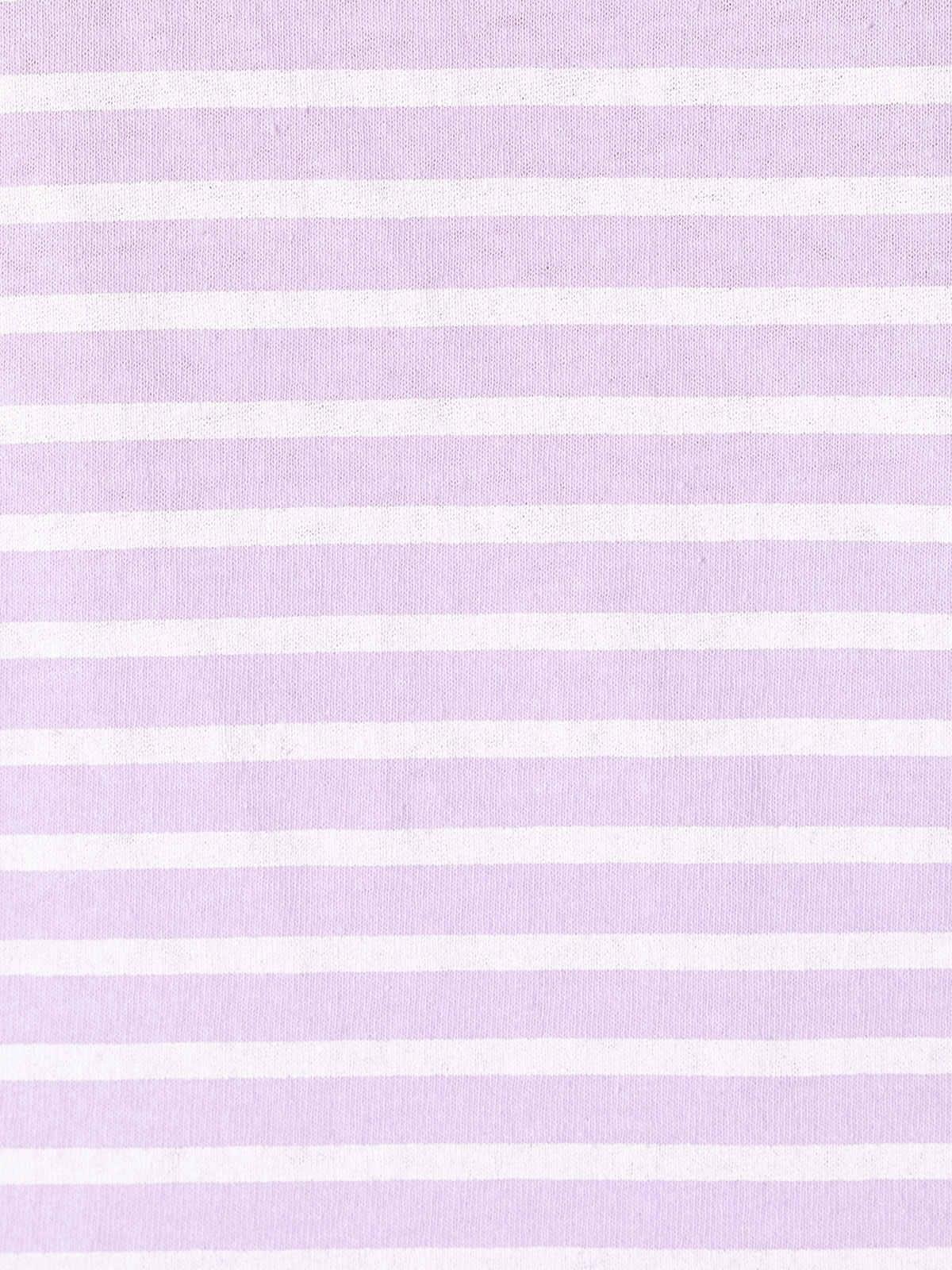 Camiseta mujer rayas algodón Lila