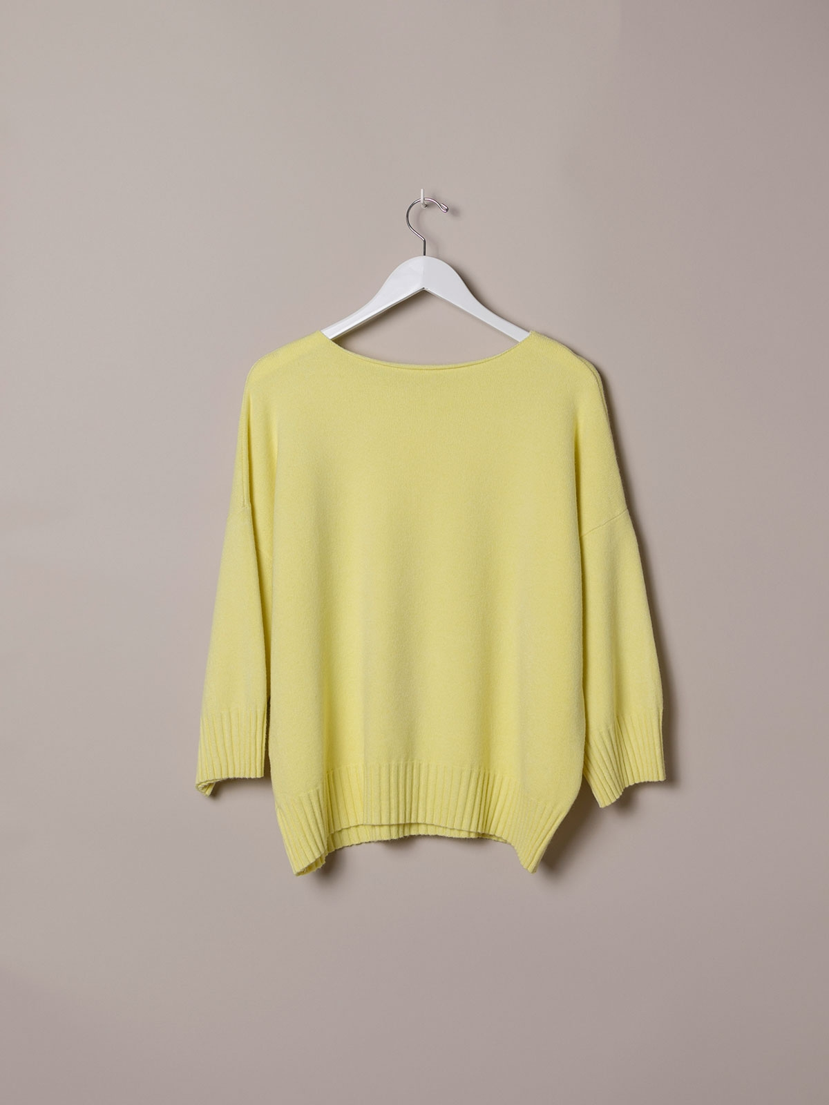 Jersey mujer oversize punto soft Amarillo