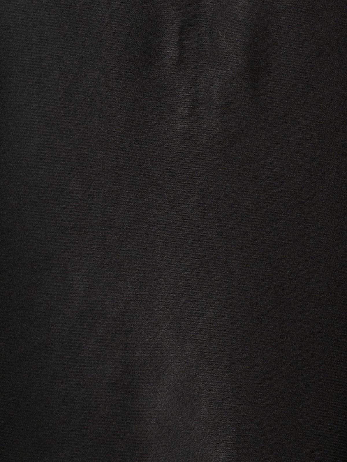 Top mujer lencero frunce Negro