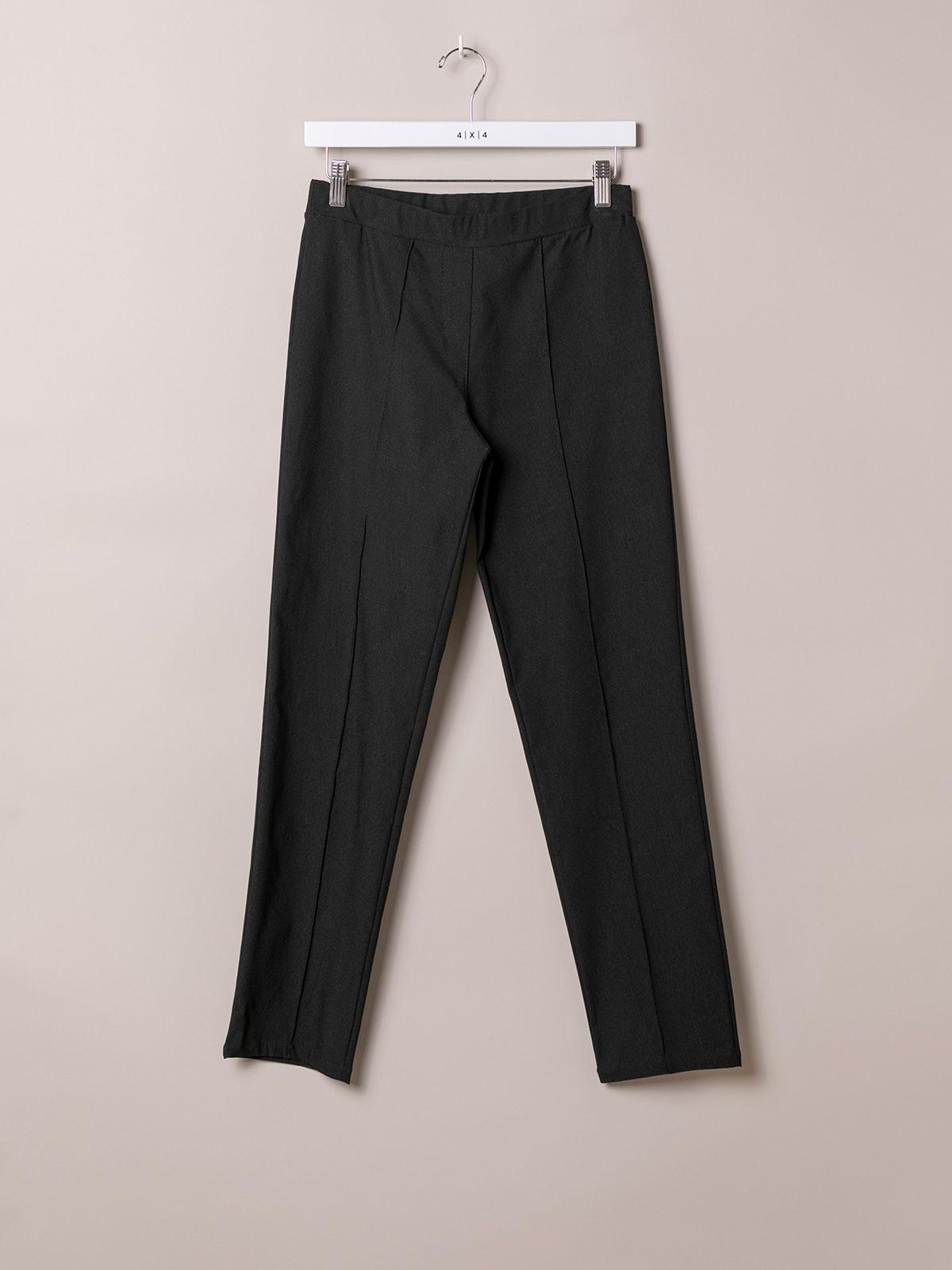 Pantalón mujer confort elástico Negro