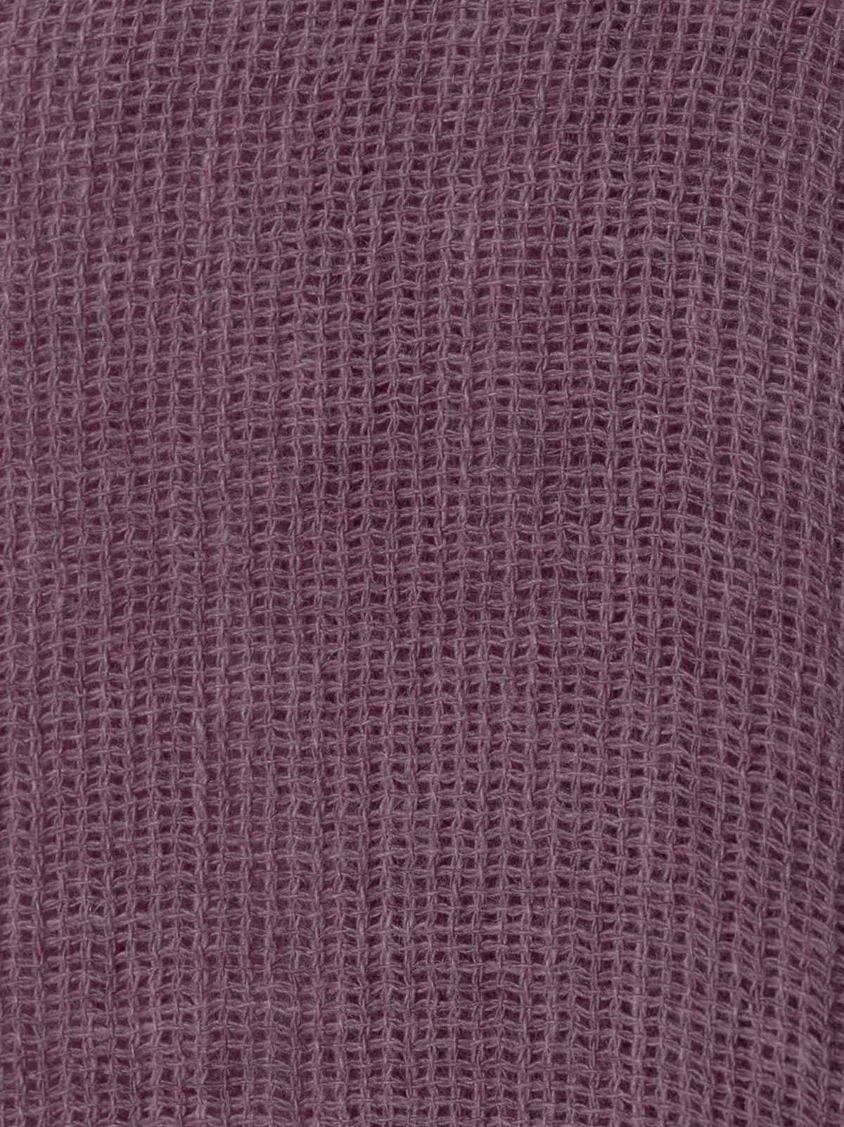 Chaqueta mujer oversize algodón lino Malva
