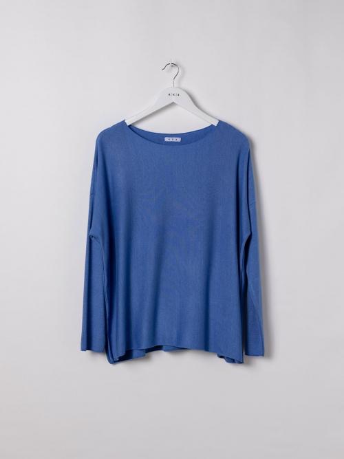 Camiseta mujer punto fino Azul