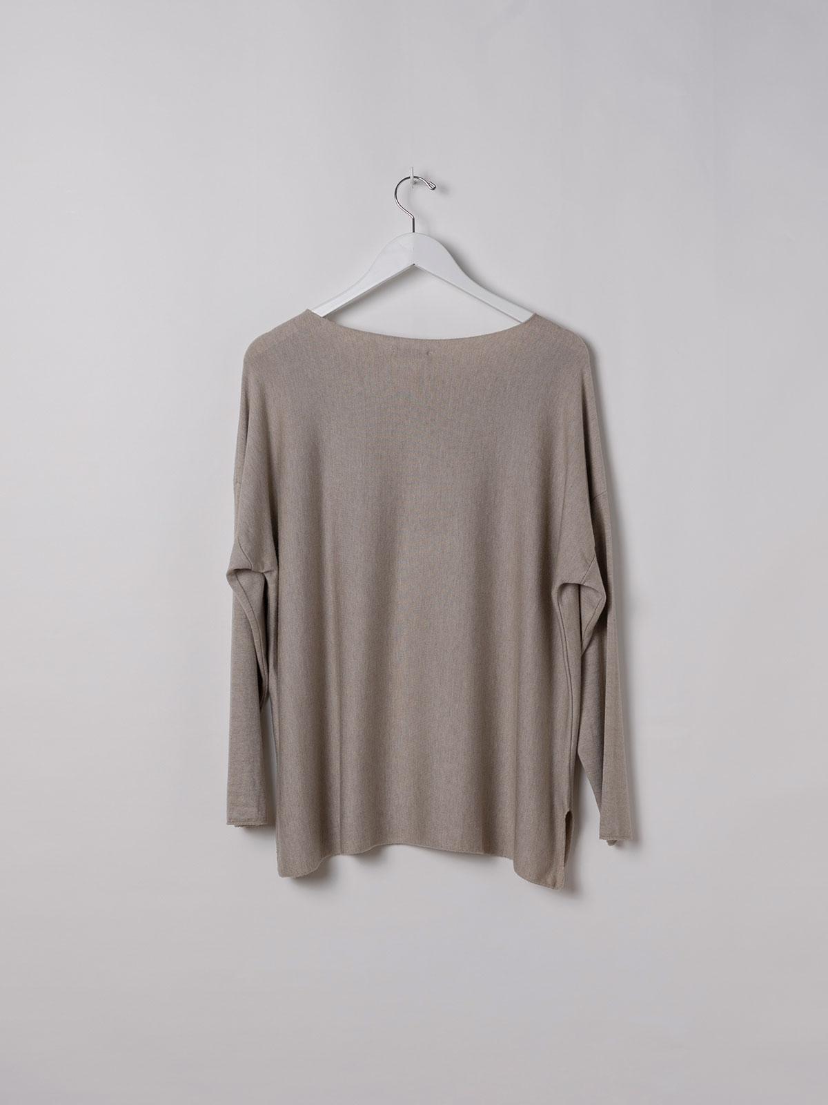 Woman Light knit T-shirt Beige