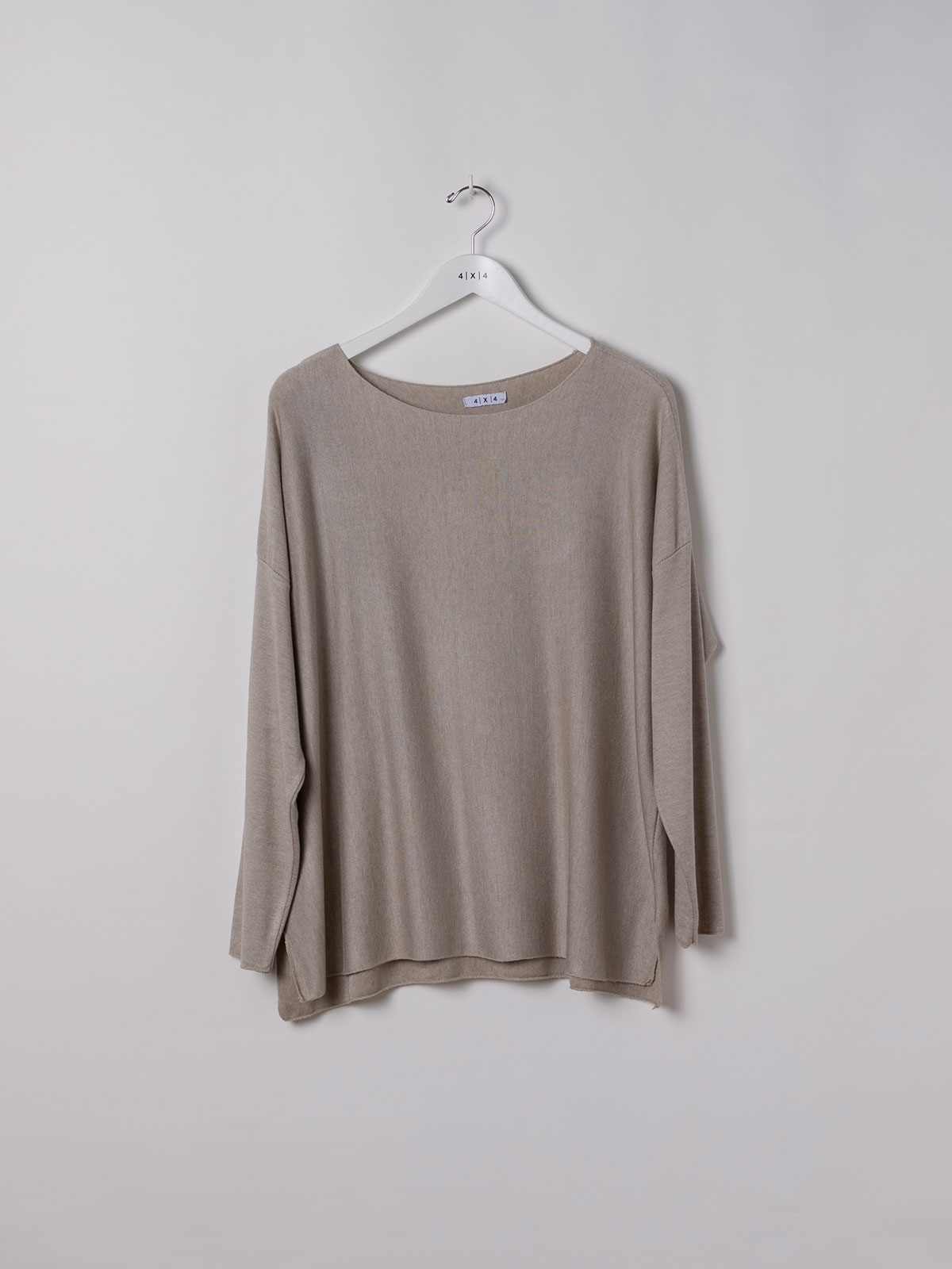 Camiseta mujer punto fino Beige