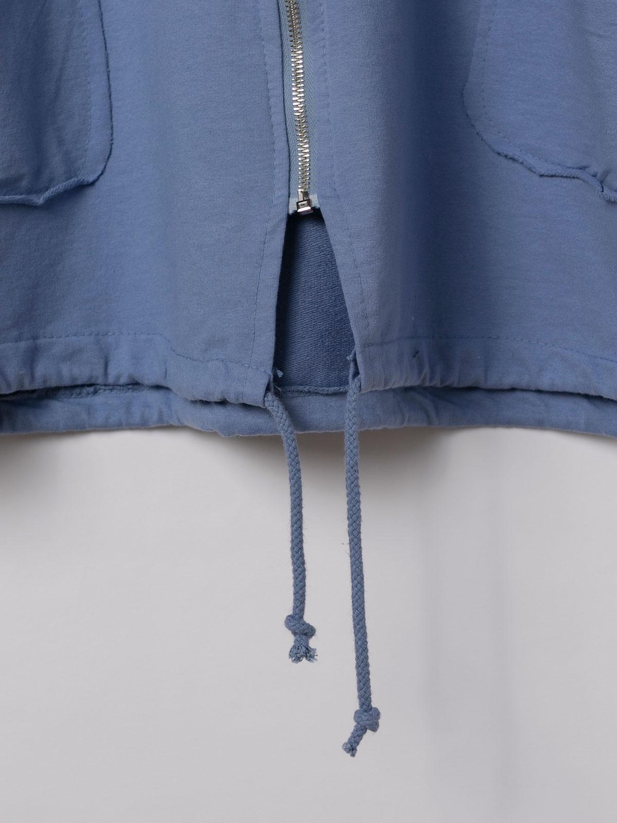 Sudadera mujer cremallera y bolsillos Azul